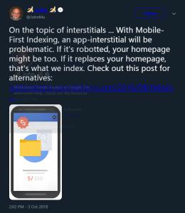 Google May Rank App Interstitials Instead Of Your Website's Homepage