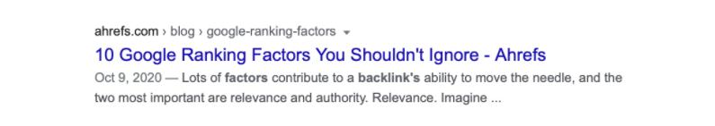 Optimised URL